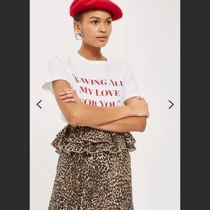 TOPSHOP   🎉 Leopart Print Ruffle Mini Skirt